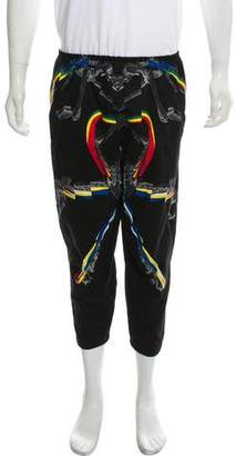 Marcelo Burlon County of Milan Abstract Pattern Cropped Joggers
