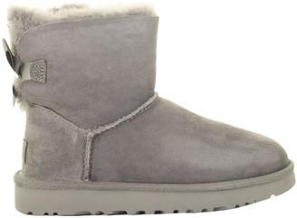 UGG Mini Bailey Bow Ii Grey Boots