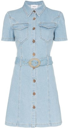Nanushka Mora belted denim dress