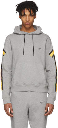 Off-White Grey and Yellow Arrows Hoodie