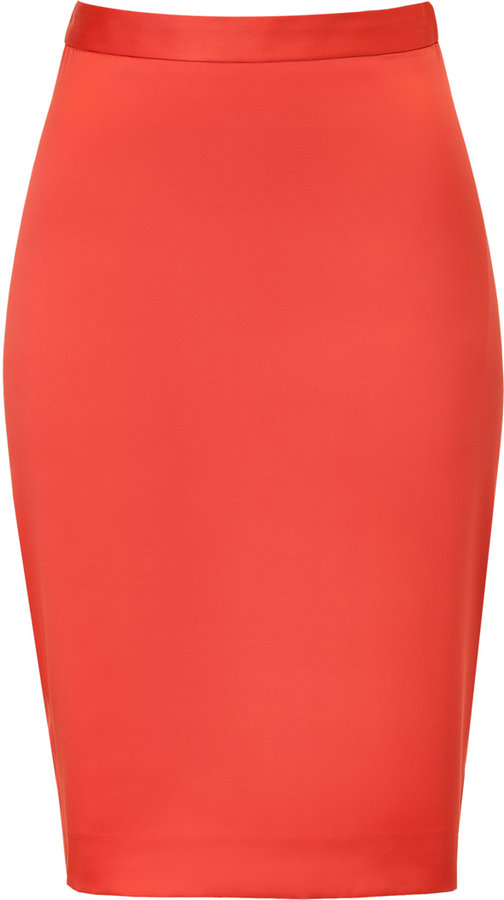 Just Cavalli Orient Red Satin Skirt