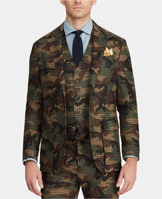 Polo Ralph Lauren Men Morgan Camo Tweed Suit Jacket