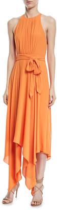 Halston Strappy Georgette Handkerchief Gown
