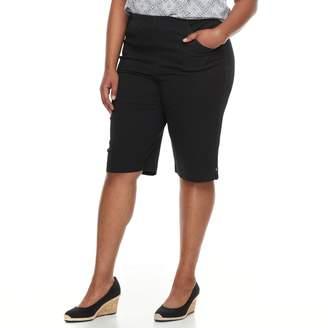 Croft & Barrow Plus Size Pull-On Skimmer Denim Shorts