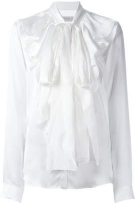 Faith Connexion ruffled neck longsleeved blouse