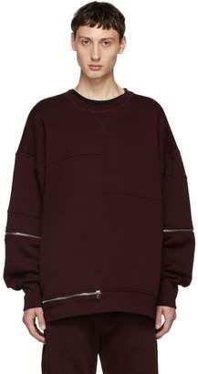 Alexander McQueen Red Zip Sweatshirt