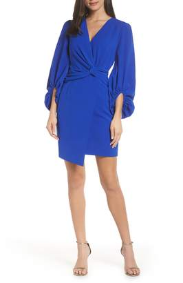 Harlyn Faux Wrap Sheath Dress