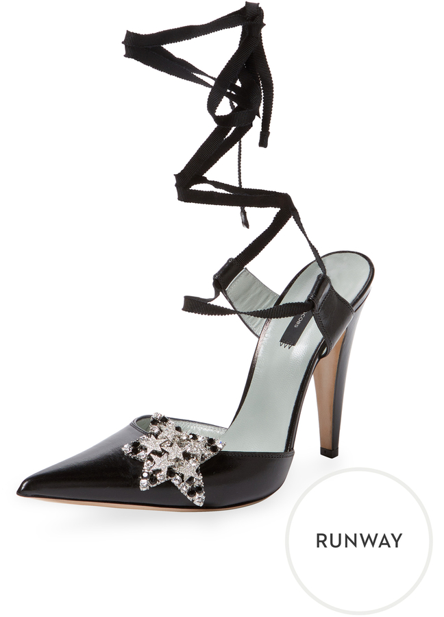 Marc by Marc Jacobs Women's Star Leather Ankle-Wrap Pump