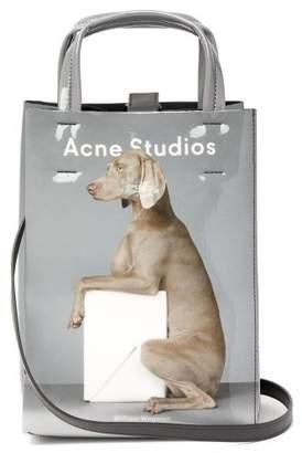 Acne Studios X William Wegman Baker Small Dog Print Tote Bag - Womens - Grey Multi