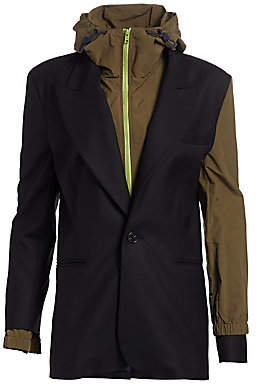 Monse Women's Wool & Nylon Double Layered Blazer Jacket