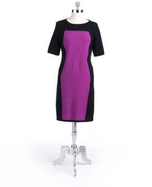 Lord & Taylor Colorblock Dress