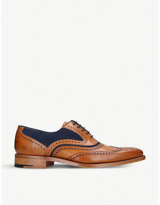 Barker McClean leather and suede oxford brogues
