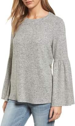 Gibson Bell Sleeve Cozy Fleece Pullover