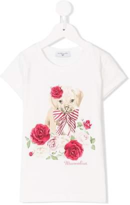 MonnaLisa floral dog print T-shirt
