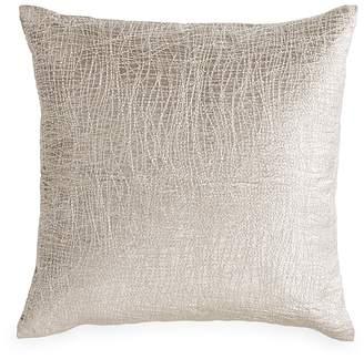 "Donna Karan Tidal Metallic Embroidered Velvet Decorative Pillow, 18"" x 18"""
