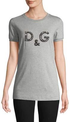 Dolce & Gabbana Women's Embellished Logo Tee