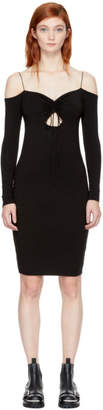 Alexander Wang Black Long Sleeve Cut-Out Off-the-Shoulder Dress