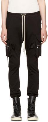 Rick Owens Black Cargo Jog Pants $1,020 thestylecure.com
