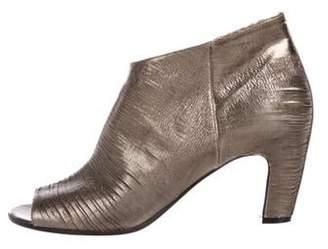 Maison Margiela Metallic Leather Booties Silver Metallic Leather Booties