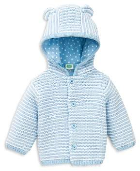 Little Me Boys' Striped Hooded Cardigan - Baby