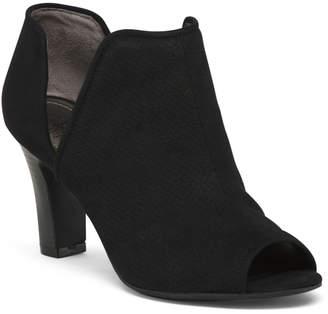 Wide Comfort Peep Toe Heels