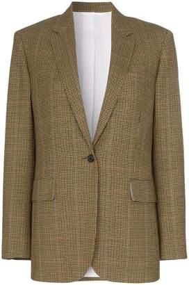 Calvin Klein single-breasted check wool blazer