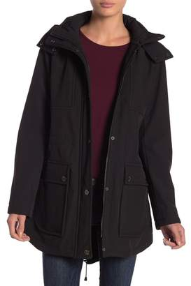 Kenneth Cole New York Funnel Collar Coat