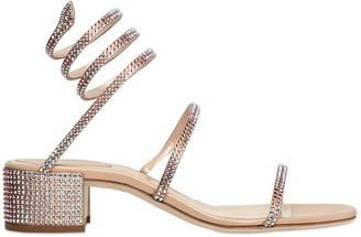 40mm Satin & Swarovski Wrap Sandals $1,570 thestylecure.com