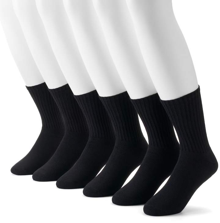 Men's Dockers 6-pack Value Cushioned Crew Socks