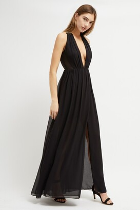 French Connection Aster Drape Halter Neck Dress