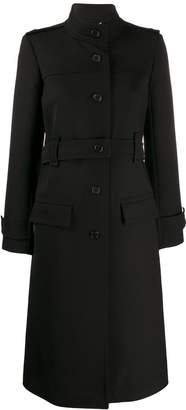 Chloé high collar single breasted coat