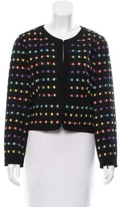 Diane von Furstenberg Long Sleeve Patterned Jacket