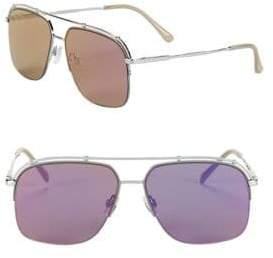 Sam Edelman 57MM Square Aviator Sunglasses