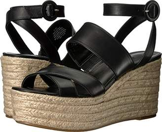 Nine West Women's KUSHALA Leather Wedge Sandal