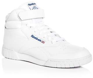 Reebok Men's Ex-O-Fit Leather High Top Sneakers