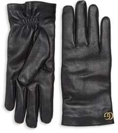 Gucci Cashmere& Leather Gloves