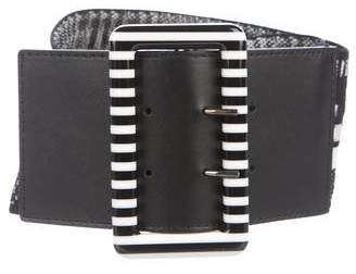 Missoni Woven Elastic Leather Belt