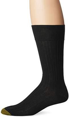 Gold Toe Men's Comfort Top Non-Elastic English Rib Crew 2 Pack S4