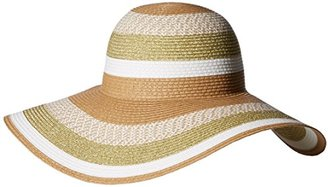 Collection XIIX Women's Lurex Striped Floppy Hat $24 thestylecure.com