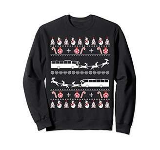 Xmas Costume Bus Driver Christmas Ugly Sweatshirt