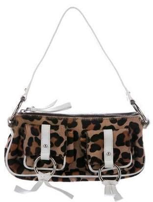 Dolce & Gabbana Leather-Trimmed Ponyhair Bag