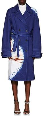 Calvin Klein Women's Tie-Dyed Denim Trench Coat