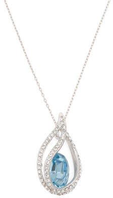 Sterling Silver Swarovski Crystal Open Teardrop Necklace