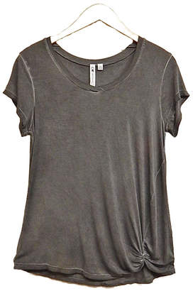 Cable & Gauge Charcoal Knot Top