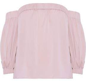 Milly Off-The-Shoulder Stretch-Silk Top