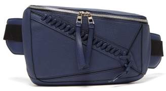 Loewe Puzzle Leather Cross Body Bag - Mens - Navy Multi