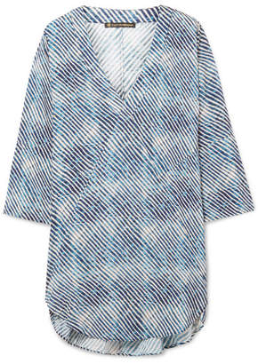 Vix Corales Printed Voile Tunic - Blue