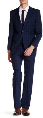 English Laundry Check Two Button Peak Lapel Suit $395 thestylecure.com