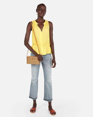 Express Cinched Waist Sleeveless Shirt
