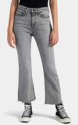 Rag & Bone Women's Nina High-Rise Flared Ankle Jeans - Gray